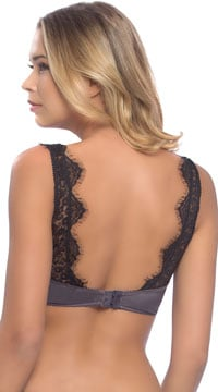 Arabella Satin and Lace Bralette - as shown