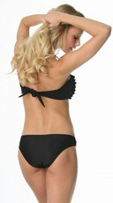 Ruffle Bandeau Swimsuit - as shown