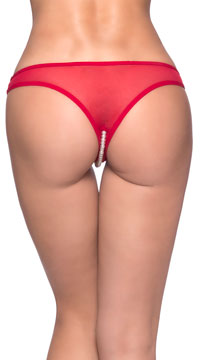 Crotchless Pearl Thong - as shown