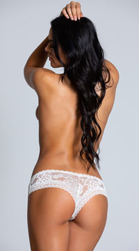 Yvette Lace Boyshort - White