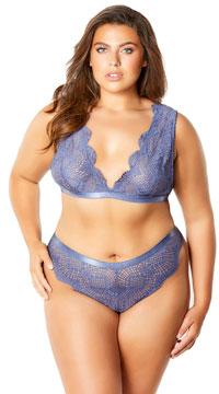 Plus Size Desiree Desire Me Bralette Set - Blue