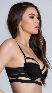 Bandage Style Bra - Black