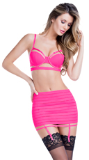 Pink Bandage Style Bra and Garterbelt - as shown