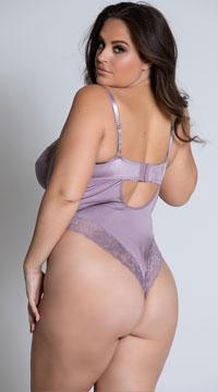 Plus Size Iva Lace Teddy - Mauve