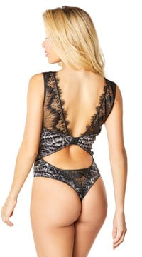 Riva Wild Side Bodysuit - Black