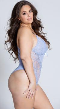 Plus Size Valentine Be Mine Teddy - Brunnera Blue