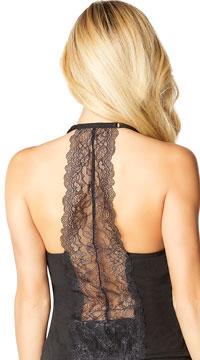 Joyelle Lace Racerback Camisole - Black