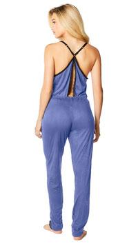 Madalene Jersey Jumpsuit - Blue/Black