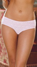 Open Crotch Low Rise Panty - Pink