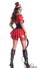 Deluxe Shaper Lion Tamer Costume - Red/Black