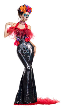 Glamour Muerta Costume - as shown
