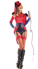Sultry Tiger Tamer Costume - Black/Red
