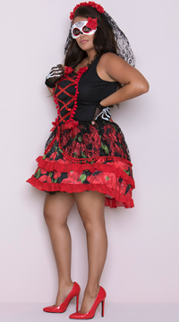 Plus Size Senorita Rose Costume