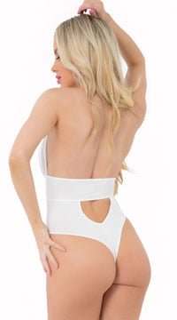 Take The Plunge Bodysuit - White