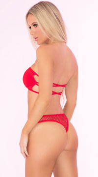 Truth Or Bare Bra Set - Red