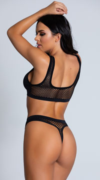 Clothing Optional Bra Set - Black