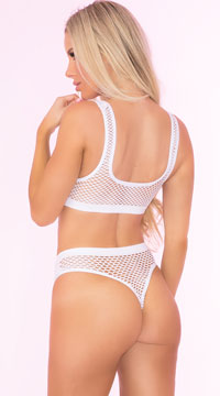 Clothing Optional Bra Set - White