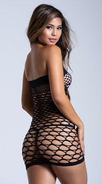 Sexy Seamless Tube Dress - Black