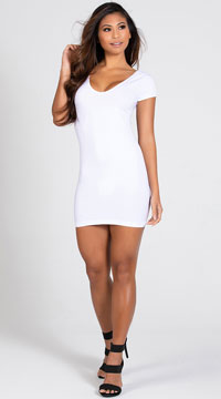 Party In The Back Mini Dress - White