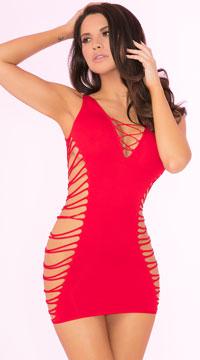 Rule Breaker Open Side Dress - Red