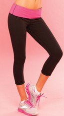 Black Reversible Yoga Pant - Black