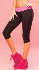 ruffle fringe cropped fitness pant ruffled work out pants