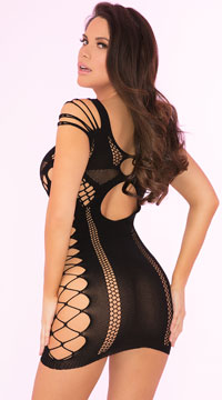 Full Of Shred Mini Dress - Black