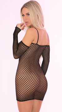 Bad Intentions Fishnet Dress - Black