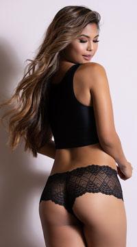 37892aa3ca7 ... Romantic Lace Boyshort - Black ...