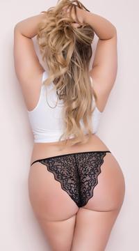 Plus Size Romantic Lace Bikini - Black