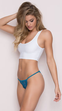 Romantic Lace Bikini - Blue