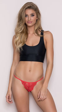 Romantic Lace Bikini - Red