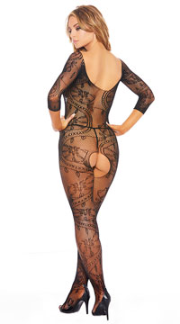 Take Your Time Bodystocking - Black
