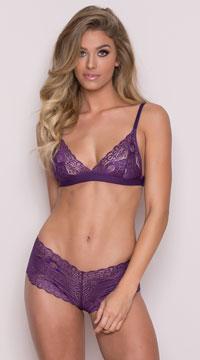 Romantic Lace Boyshort - Purple