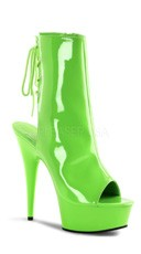Neon Platform Ankle Boot - Neon Green Pat/Green