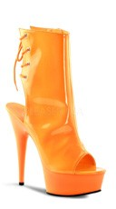 Neon Platform Ankle Boot - Neon Orange Pat/Orange