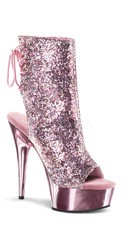 6 Inch Heel, 1 3/4 Inch Pf Open Toe/back Ankle Boot - as shown