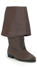 Men's Pirate Boot with Bell Cuff - Brown Leather (p)