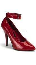5 Inch Ankle Strap Pump - Red Patent