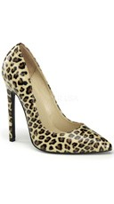 5 Inch Stiletto Heel Pointy Toe Pump - Tan Pu (cheetah Print)