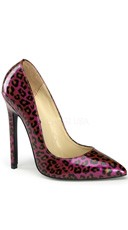 5 Inch Stiletto Heel Pointy Toe Pump - Purple Pearlized Pat