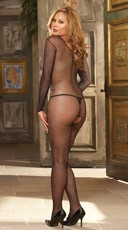 Plus Size Body Stocking - Black