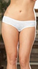Plus Size Open Crotch Low Rise Panty - as shown