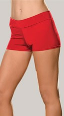 Plus Size Spandex Shorts - Red