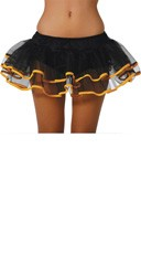 Flirty Double Layer Petticoat - Black/Yellow