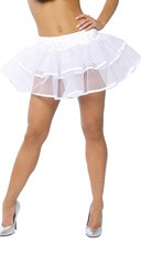 Flirty Double Layer Petticoat - White/White