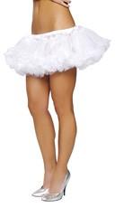Fluffy Layered Petticoat - White