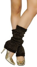 Glitter Half Calf Warmers - Black/Gold