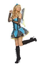 Adult Butterfly Costume - Turquoise/Black