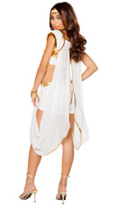 Queen Of Olympus Costume - White/Gold